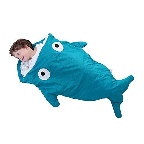 Baby cartoon squalo sacco a pelo con cuscino caldo invernale per passeggino letto coperta per avvolgere biancheria da letto per bambini di 6–48mesi 6