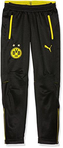 PUMA Kinder Hose BVB Training Pants with pockets, black-cyber yellow, 176, 749863 02 (2-pocket-hose)