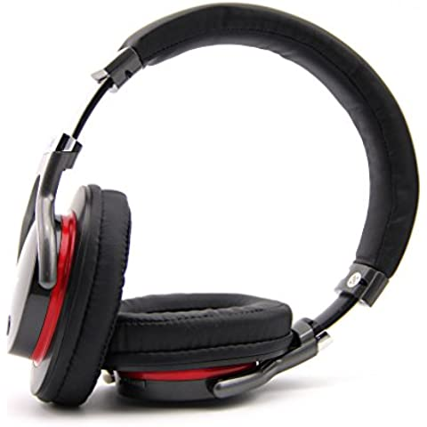 ZEALOT B5 - Auriculares Inalámbricos de Alta Fidelidad para Smartphone PC y MP3/4 (Bluetooth, Hifi Estéreo, Micrófono Incorporado, Soporta Tarjeta TF) (Negro)
