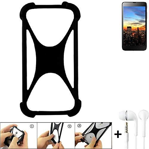 K-S-Trade Handyhülle für Hisense HS-U970E-8 Schutzhülle Bumper Silikon Schutz Hülle Cover Case Silikoncase Silikonbumper TPU Softcase Smartphone, schwarz (1x), Headphones
