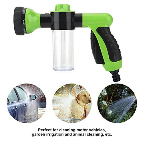 AIMCAE Gartenschlauch Spritzpistole Düse 8 Arten von Spritzmodus Spritzpistole Garten Seifenspender Schlauch Bewässerungsdüse Autowäsche Gartenbewässerung Werkzeug