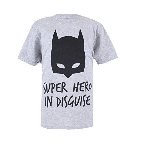 DC Comics Jungen Batman Disguise-Boys T-Shirt XL, Grey (Sports Grey), 9-10 (Kid Flash Hoodie)