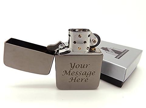 Personalised Engraved Genuine 1941 Replica Black Ice Zippo® Lighter Gift