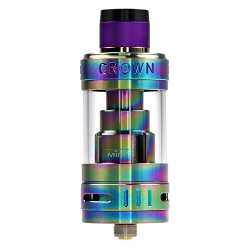 Uwell Crown 3 Clearomizer 5 ml, Durchmesser 25 mm, Riccardo Verdampfer für e-Zigarette, rainbow