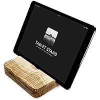 iPad Ständer Holz, Tablet-halter für iPad Pro, Mini 2, 2 Winkel Neigungen, Schreibtisch, Bett oder Boden Halterung | Handmade in Germany von FORMGUT® | Esche Massiv