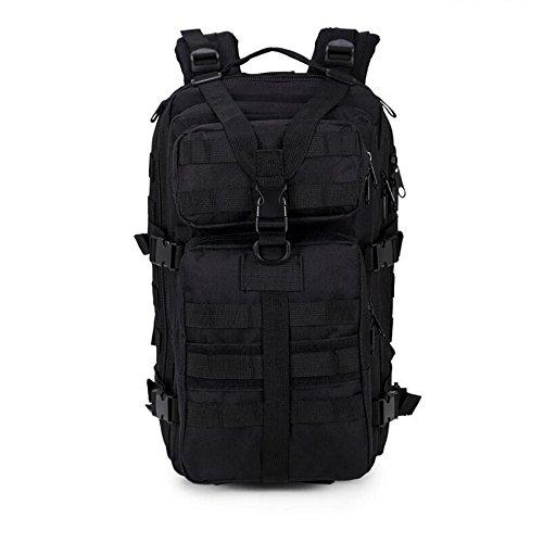 Z&N Tifosi militari nylon impermeabile zaino tattico attacco militare spalle all'aperto zaino montagna borsa impermeabile camouflage grande capacità 33L traspirante resistente leggeroKhaki33L black