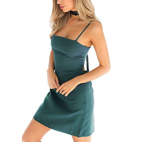Sommer Sling Kleid Bogen Strand Minikleid Backless beiläufige Partei-Kleid-beiläufige Minikleid