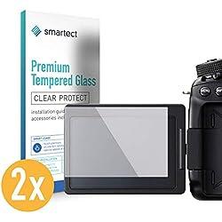 smartect Protection d'Écran en Verre Trempé pour Canon EOS 80D [2 Pièces] - Film Protecteur Ultra-Fin de 0,3mm - Vitre Robuste avec 9H de Dureté et Revêtement Anti-Traces de Doigts