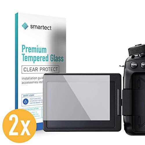smartect Panzerglas für Canon EOS 80D [2 Stück] - Displayschutz mit 9H Härte - Blasenfreie Schutzfolie - Anti Fingerprint Panzerglasfolie