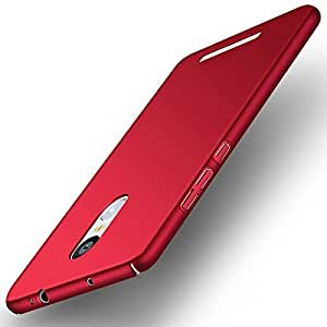 """PES Premium All Sides Protection """"360 Degree"""" Sleek Rubberised Matte Hard Case Back Cover For Xiaomi Redmi Note 3 - Maroon Wine Red"""
