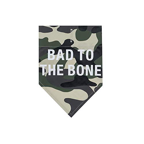 About Face Designs Hundehalstuch, Motiv Bad to The Bone Dog, Größe XL, Tarnmuster