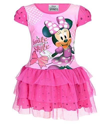 Disney Mädchen Offiziell Lizenzierte Minnie Mouse Cotton-Kostüm-Kleid Alter 3 Jahre (Disney Lizenzierte Kostüm)