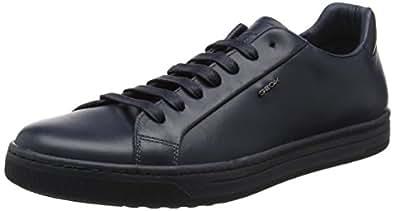 Geox Uomo Ricky F, Sneakers Basses Homme, Marron (Lt Cognac), 46 EU