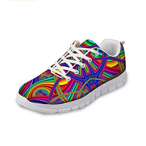 MODEGA Scarpe Colorate per Gli Uomini abbagliante delle Scarpe da Tennis di Sport di volano Scarpe da Donna più Scarpe Sportive di Dimensioni per Gli Uomini Scarpe giornali Dimensioni 44 EU|9 UK