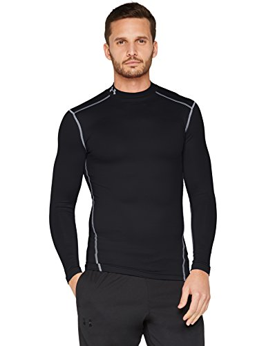 Under Armour Coldgear Compression Mock Shirt black-steel - XXXL