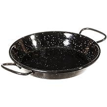 La ideal Paella Pfanne Stahl emailliert, schwarz, 15cm