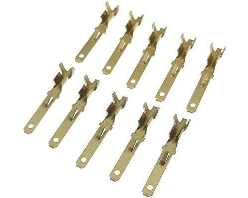 Preisvergleich Produktbild 10x Junior Timer Kontakte Stecker ISO Quadlock Flachstecker male PIN Pins Auto