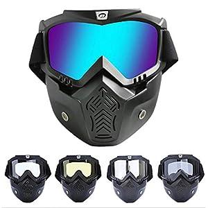 Adisaer Fahrradbrille Polarisierend Motorradhelm Off Road Fahrer Mit Outdoor Schutzbrillen Maske Retro Maskenbrille Ausgestattet Damen Herren