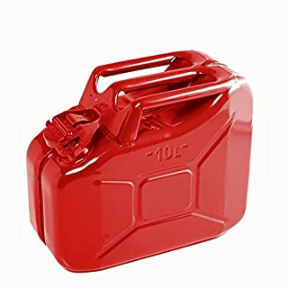 Red Jerry Can for Fuel Petrol Diesel etc - Compact Design 10 Litre