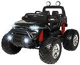 Actionbikes Motors Kinder Elektroauto Ford Ranger Monster - 4 x 45 Watt Motor - Touchscreen - Allrad - 2-Sitzer - Rc Fernbedienung - Elektro Auto für Kinder ab 3 Jahre (Schwarz)