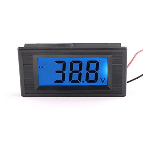 DEOK DC 9V/ 12V/ 24V Digital Voltmeter Battery Car Voltage Tester Gauges Panel Meter LCD Display 2-wire Semi-closed (DC18-80V)