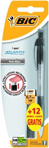 BiC Atlantis - Portaminas 0,7mm + 12 recambios, colores surtidos