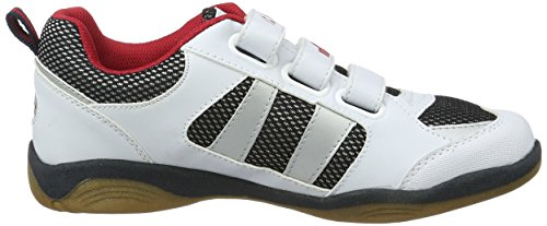 Lico Indoor V, Chaussons Sneaker Fille Blanc (Weiss/marine/rot)
