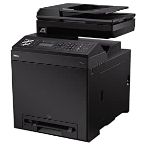 Dell 2155cn netzwerkfähiger Multifunktions-Farblaserdrucker (Scanner, Kopierer, Drucker, Fax, USB 2.0)