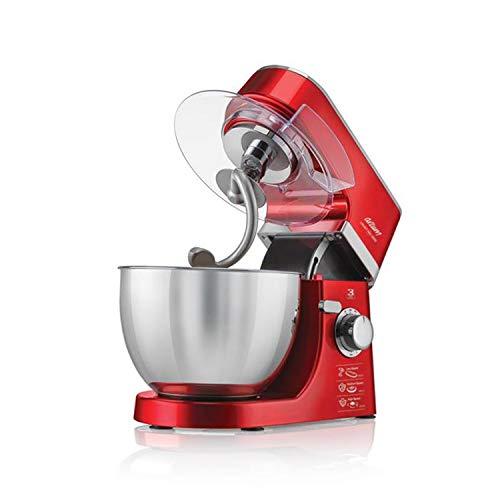 Arzum Crust Mix Küchenmaschine | Hochwertiges Metallgehäuse | Hochglanzpolierte 4,5 Liter Edelstahl-Schüssel Stand-Mixer| 8Stufen Funktion | 1000 Watt | rot