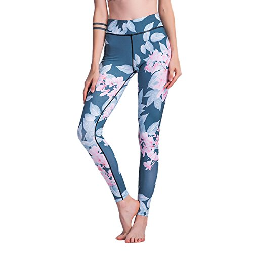 Women's Printing Yoga Pants Sport Gym Leggings Workout Tights A