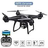 Drone con Camara HD Drones con Camaras Profesionales Drones para Niños con Camara, 1080P Drone con WiFi Drone App Drone para iOS/Android Selfie Drone Gran Angular Drone Adultos con Camara,Black