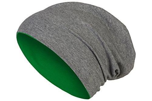 ... floscio Beanie Lungo Jersey di Cotone Elastico Unisex Uomo Donna  Berretto Heather in 24 Vari Colori (8) - Grigio Scuro Verde Scuro 5e8f22f7548f