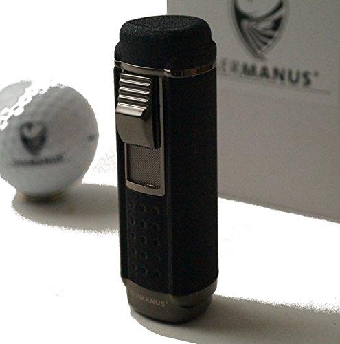 Preisvergleich Produktbild GERMANUS Jetflame Feuerzeug Stick mit 4 Flammen in Schwarz