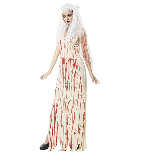 Blisfille Halloween Kostüm Erwachsene Hexe Toten Kopf Skelett -
