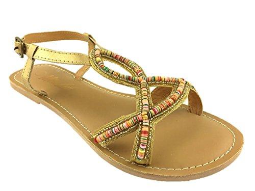 Mc Footwear , Gladiator fille femme Doré
