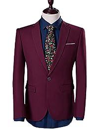 INFLATION Herren Slim Schnitt Business Herrenanzüge Smoking 2-Teilig Anzugsuit Blazer und Hose, 9 Farben verfügbar