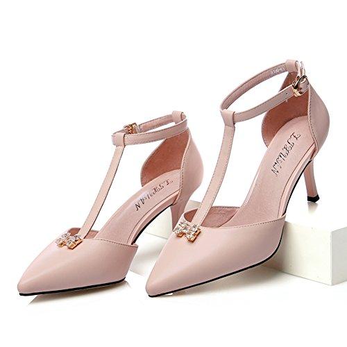 chaussures femme printemps-été/Chaussures pointues/Talons aiguilles/puis l'entrepreneur sandales/Shoes étés creux/Asakuchi chaussures femme A