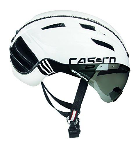 Casco Erwachsene Speedster-TC Plus Fahrradhelm, Weiß / Schwarz, M
