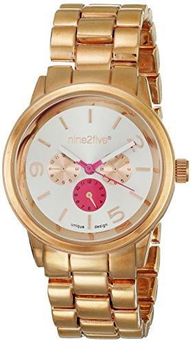 Nine2Five Rosegold de lujo del reloj