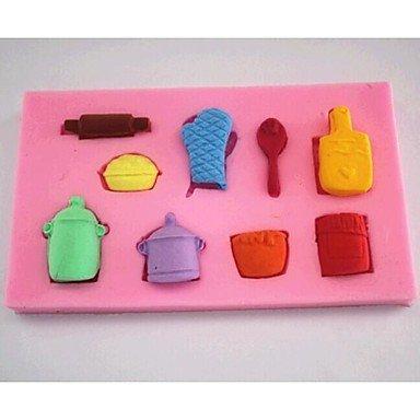 HuaJing guanti pot strumenti di decorazione torta al cucchiaio di cioccolato fondente della torta del silicone della muffa, l6.9cm * w6.9cm * h1cm