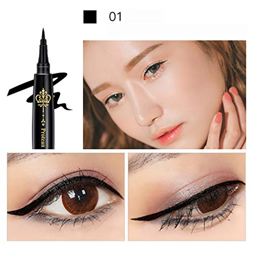 Eyeliner Stamp Black,Waterproof, Smudgeproof Winged Liquid Eye Liner Pen langanhaltend, wisch- und wasserfest, ohne anspitzen By Vovotrade
