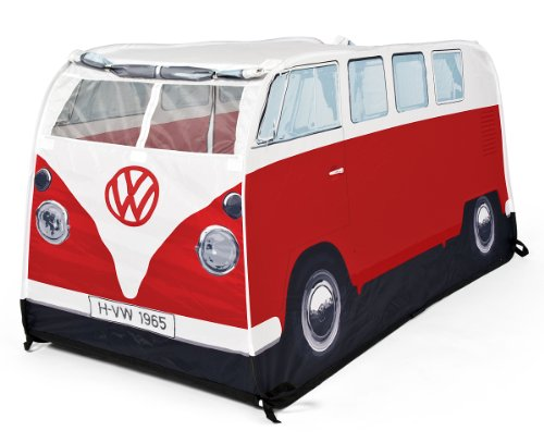 Preisvergleich Produktbild VW Bulli Spiele-Wurfzelt Rot für Kinder (77cm hoch)