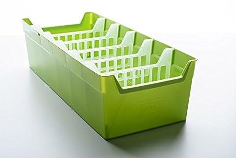 BranQ 5901098164009 Küchenorganizer, Plastik, grün, 35 x 34.4 x 13.9