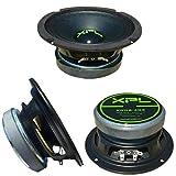 XPL XW06-403 XW06 403 altoparlante diffusore medio basso woofer 16,50 cm 165 mm 6,5' di diametro 100 watt rms 200 watt max impedenza 4 ohm 97 db auto casa dj party nero 1 pezzo