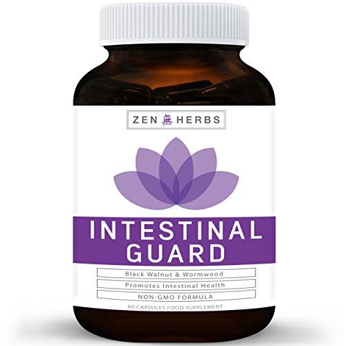 Intestinal Guard (Non-GMO) Intestinal Cleanse for Humans - Wormwood & Black  Walnut- 100% Money Back Guarantee - 60 Capsules