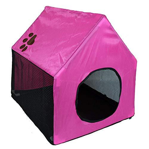 Pet ting cane e gatto tenda portatile per esterni e interni casa da pavimento con zip