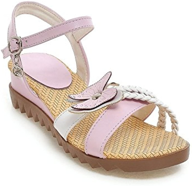 NVLXIE Sandali da donna Retro sandali sandali sandali romani Tempo libero studenti confortevoli Butterfly rosa blu 4cm, rosa, 37 | Sensazione Di Comfort  6a0702