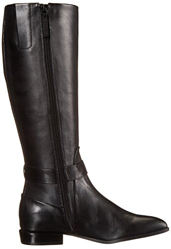Nine West Diablo Leder Kniehohe Stiefel Black