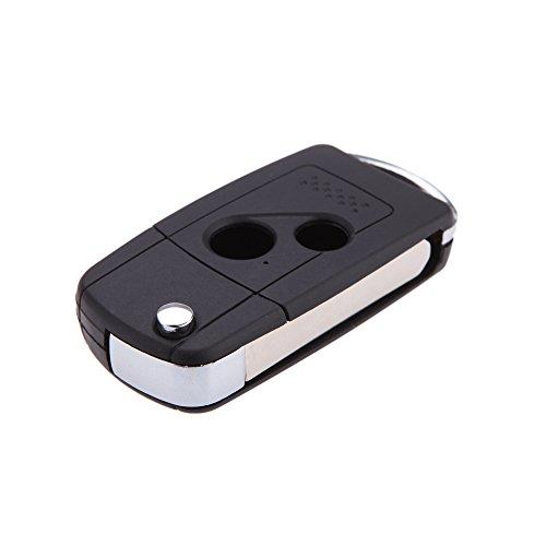 lesmartzyn (TM) plegable llavero con mando a distancia Carcasa de llave de coche para Honda Accord Fit con 2botones para llaves de coche con tapa para Entry Fob Uncut blade estuche para llaves de