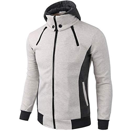 SEEU Herren Winter Jacket Sweatjacke Kapuzenjacke Hoodie mit Kapuze Beige M